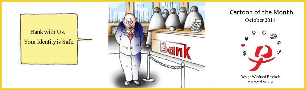Cartoon of the Month Bank with us
